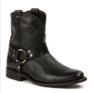Frye Wyatt Harness Leather Short Boot in Black